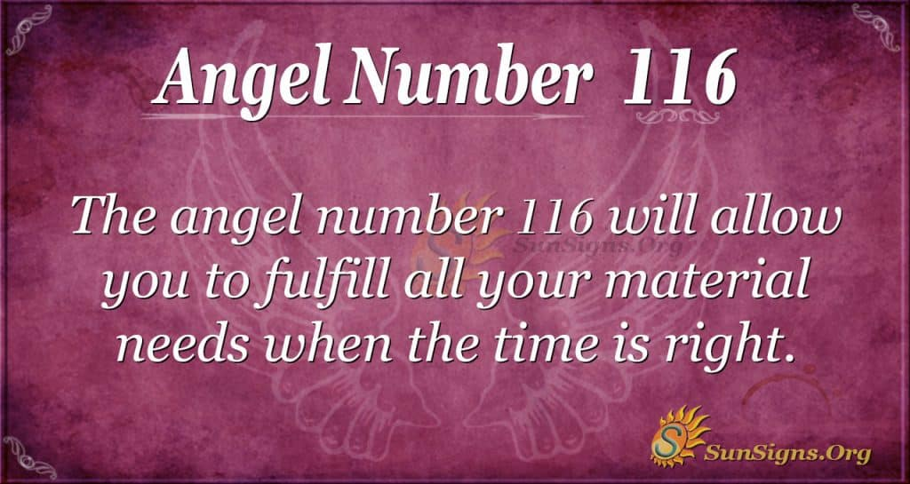 angel number 116