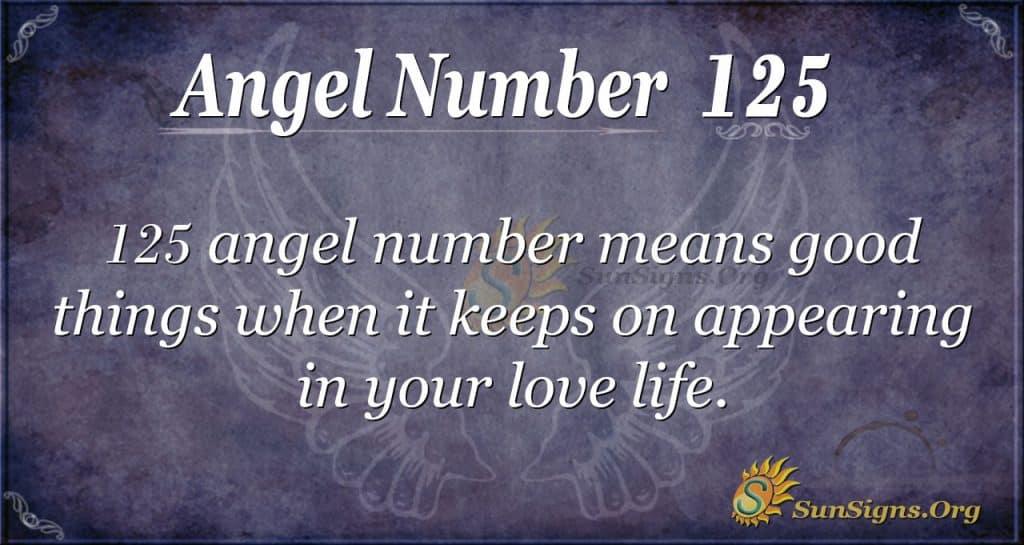 angel number 125