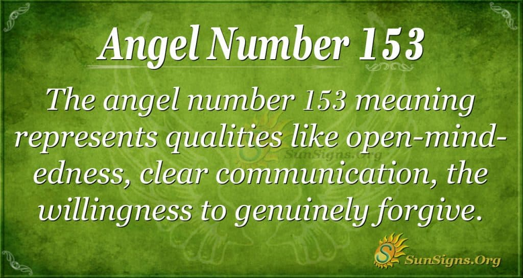 angel number 153