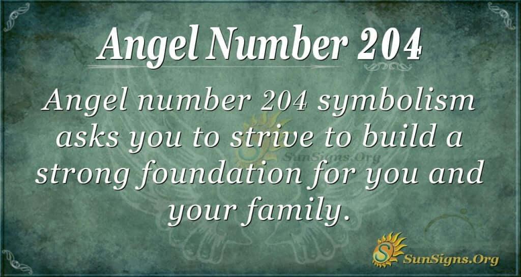 angel number 204