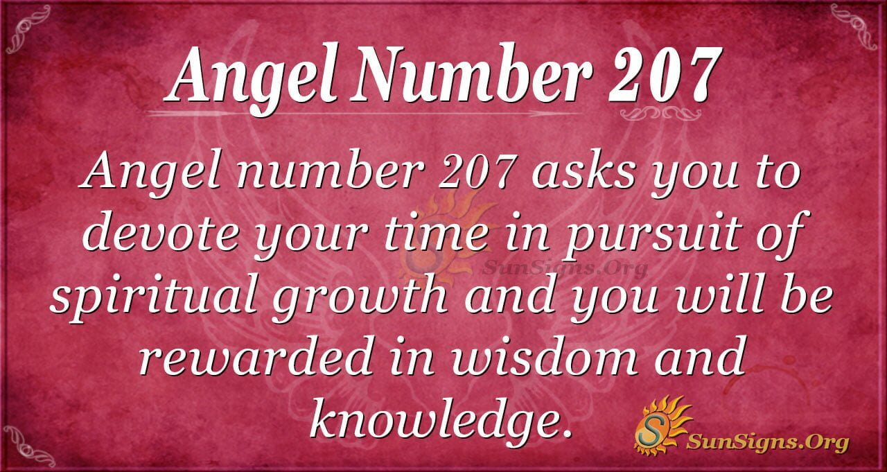 Angel Number 207 Meaning