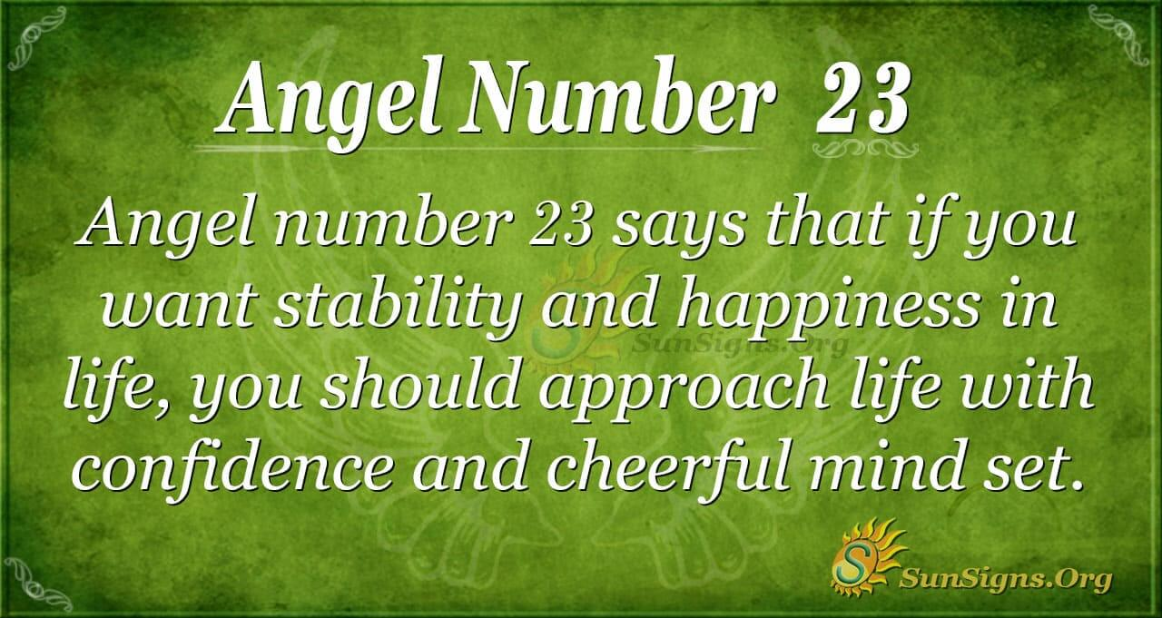 Angel Number 23 Meaning