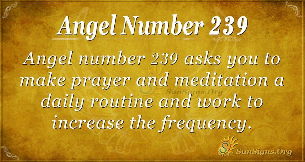 angel number 239