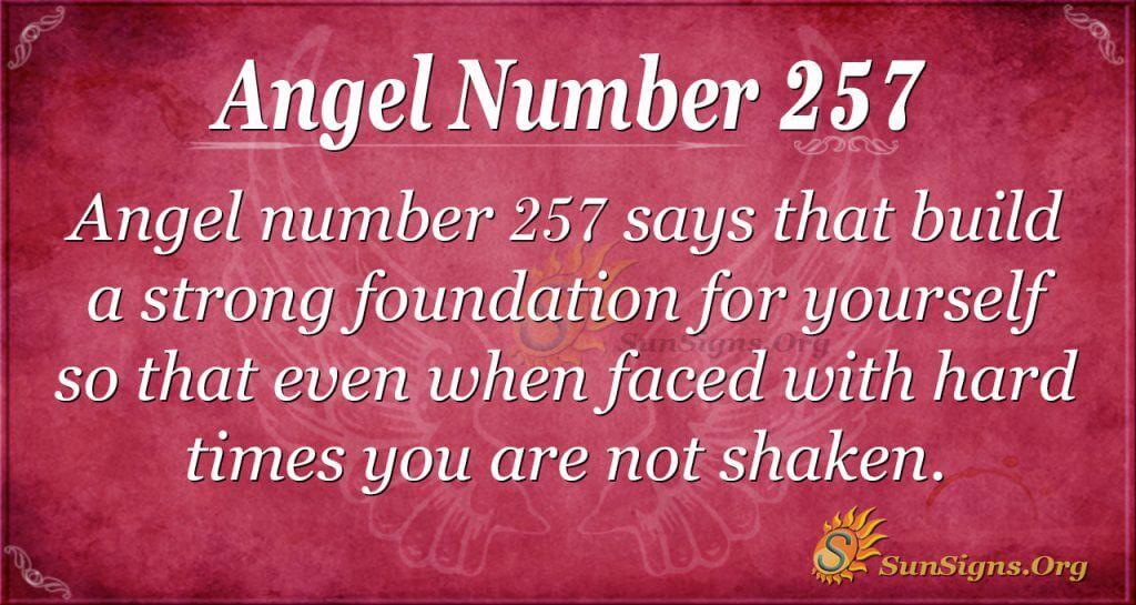 Angel Number 257