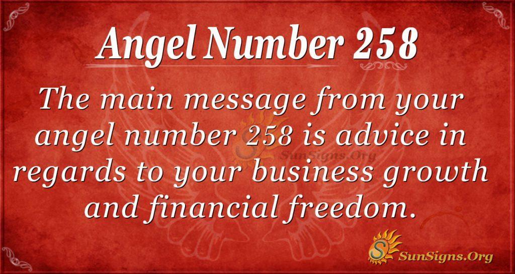 Angel Number 258
