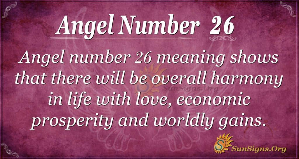 angel number 26