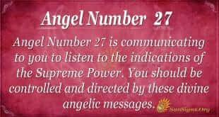 angel number 27