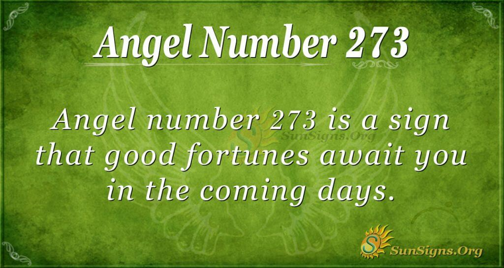 Angel Number 273