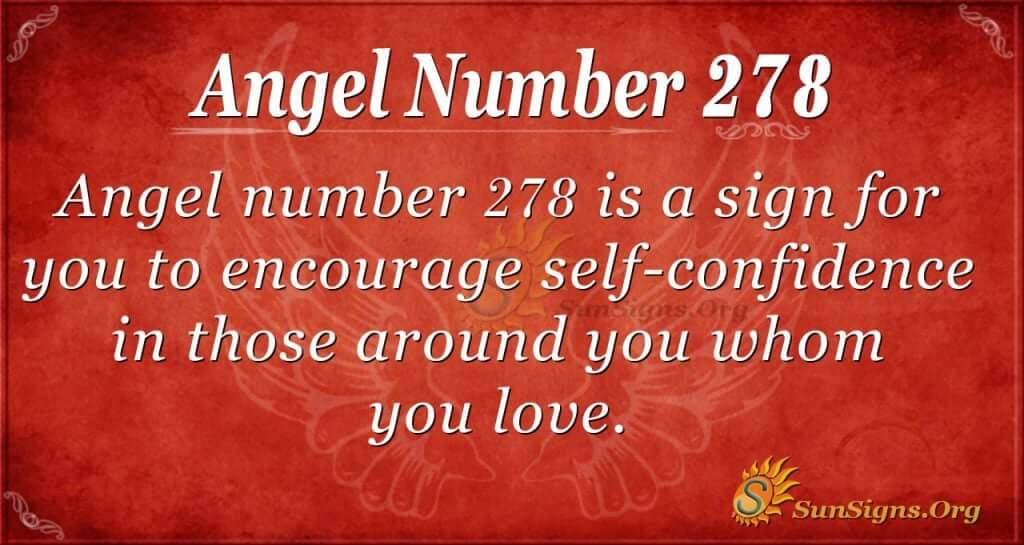 angel number 278
