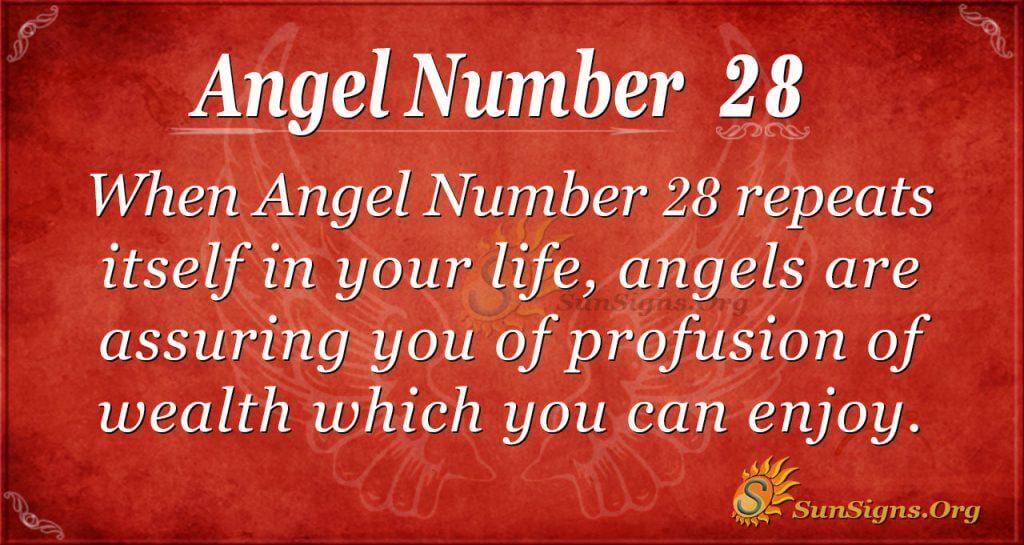 angel number 28