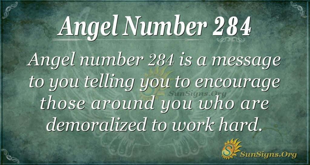 angel number 284
