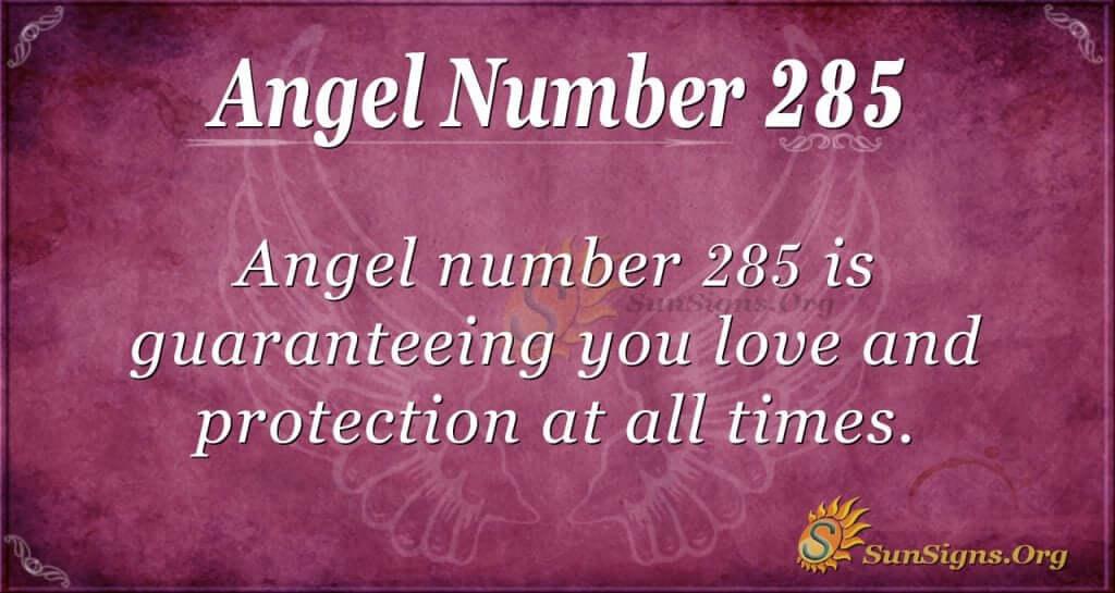 angel number 285