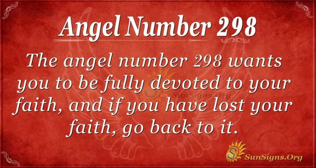 Angel Number 298