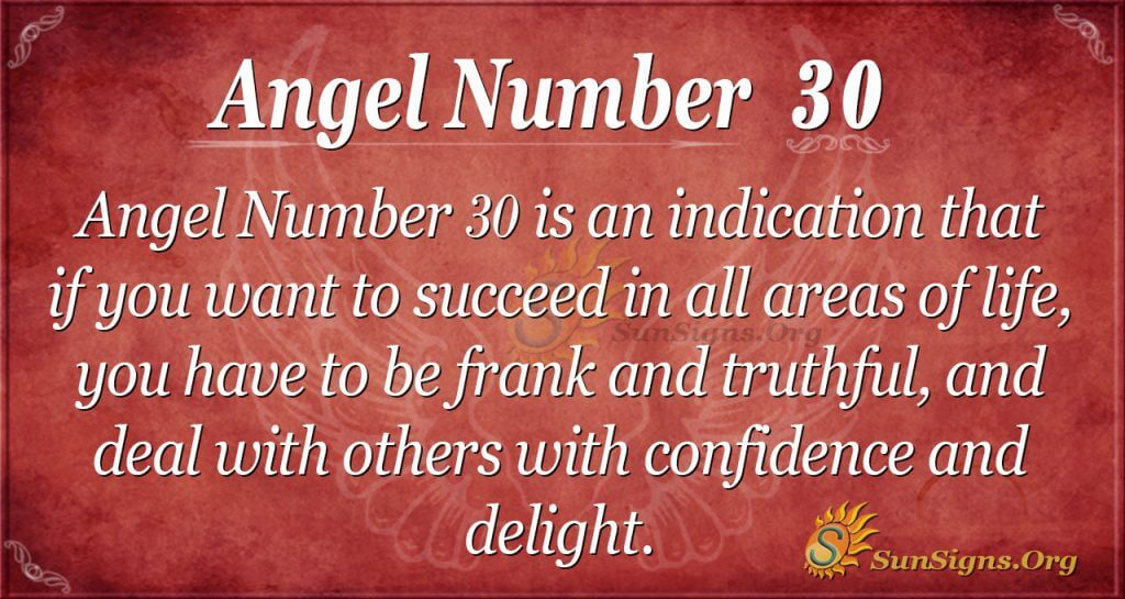 angel number 30