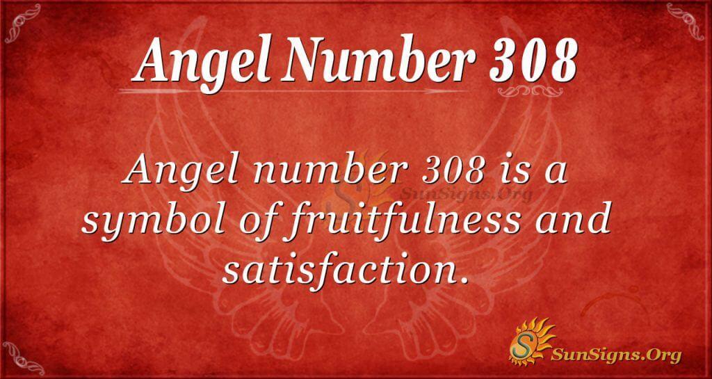 Angel Number 308