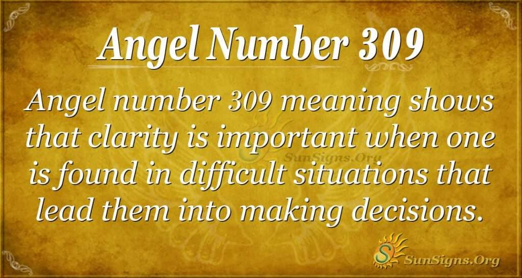 Angel Number 309