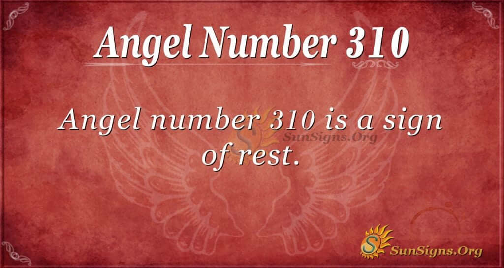 Angel Number 310