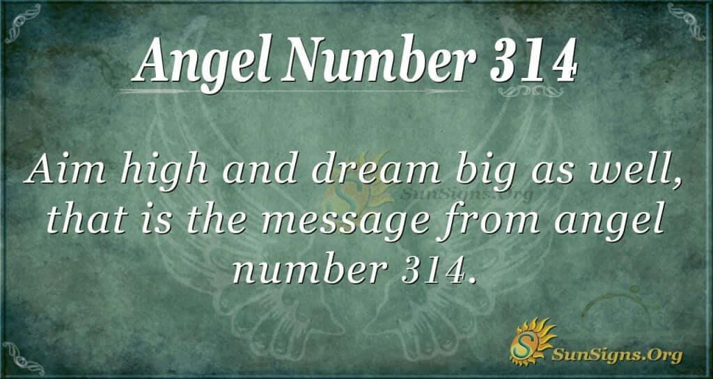 Angel Number 314