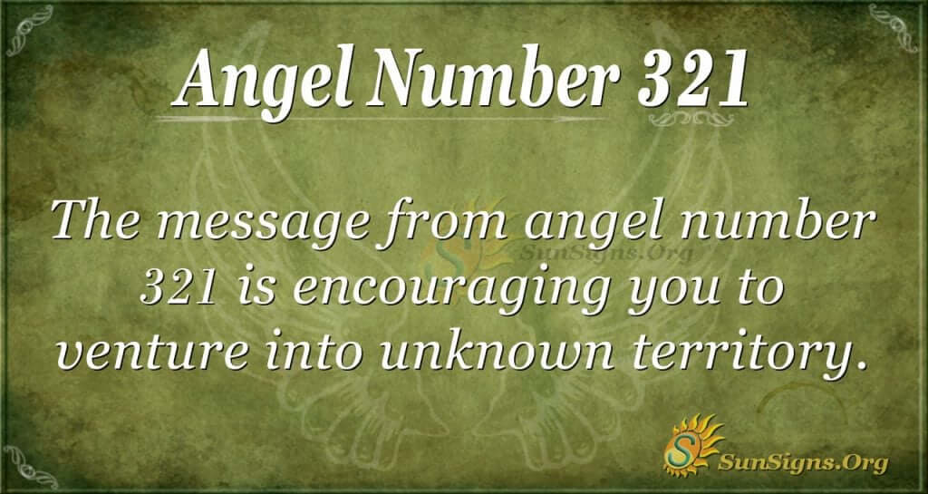 Angel Number 321