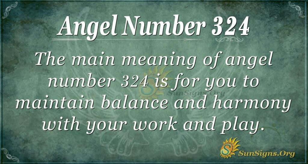 Angel Number 324