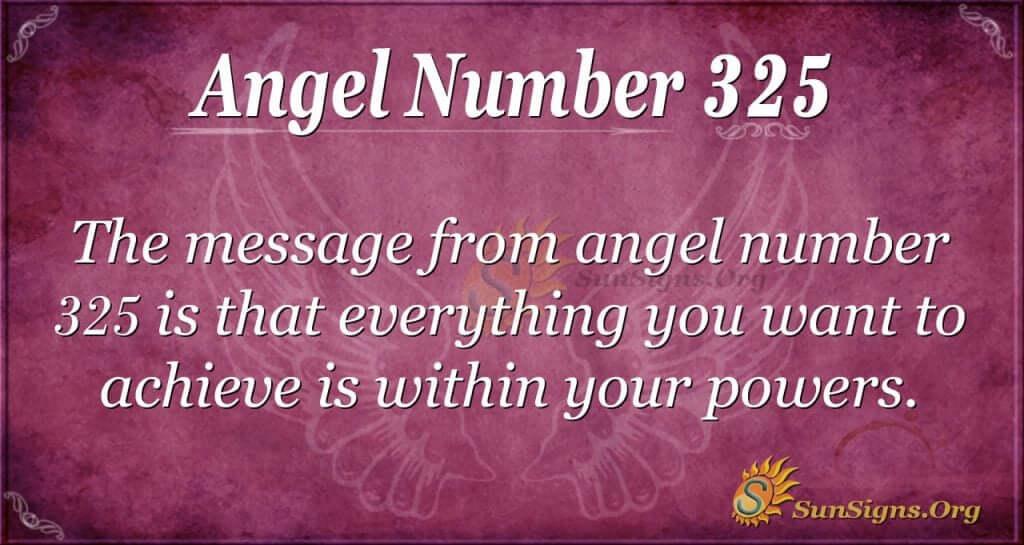 Angel Number 325