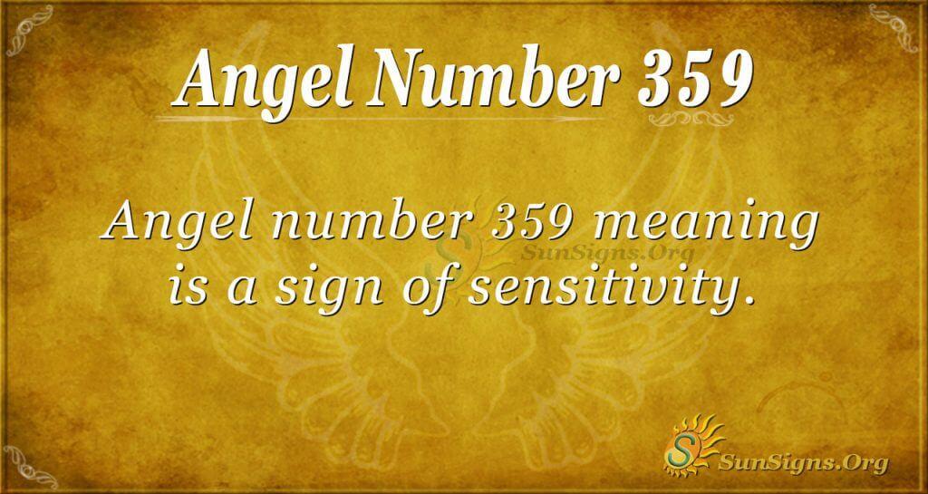 Angel Number 359