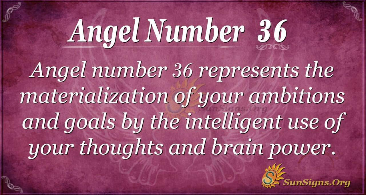 Angel Number 36 Meaning