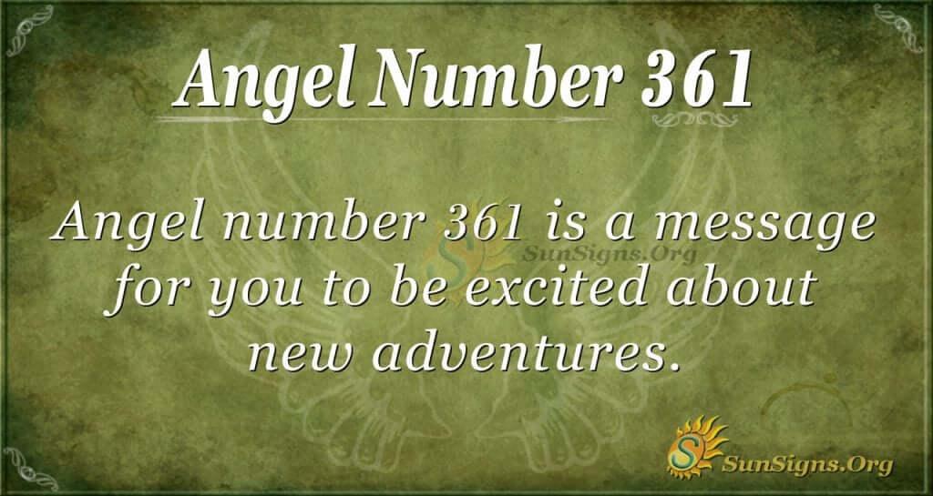 Angel Number 361