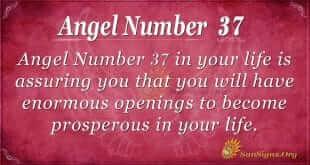 angel number 37