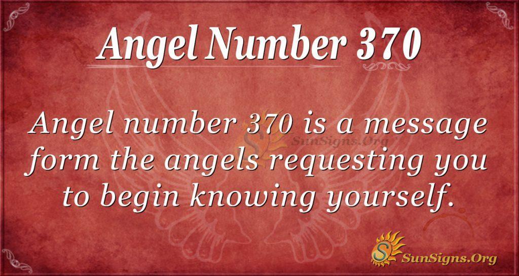 Angel Number 370