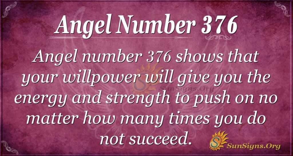 Angel Number 376