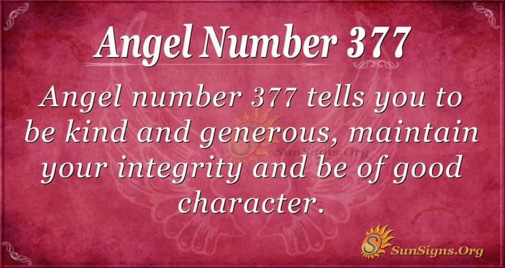 Angel Number 377