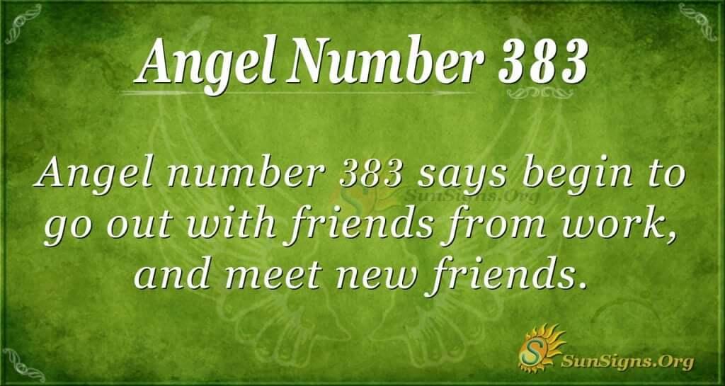 Angel Number 383