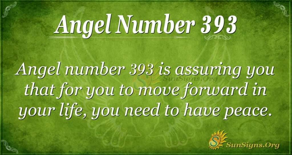 Angel Number 393