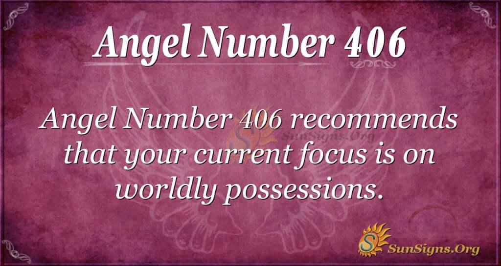 Angel Number 406