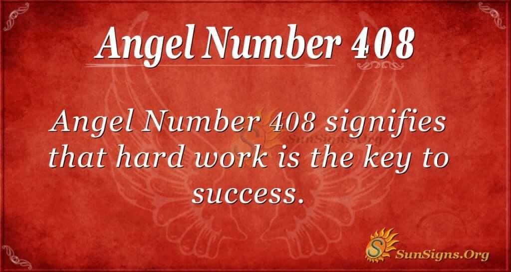 Angel Number 408