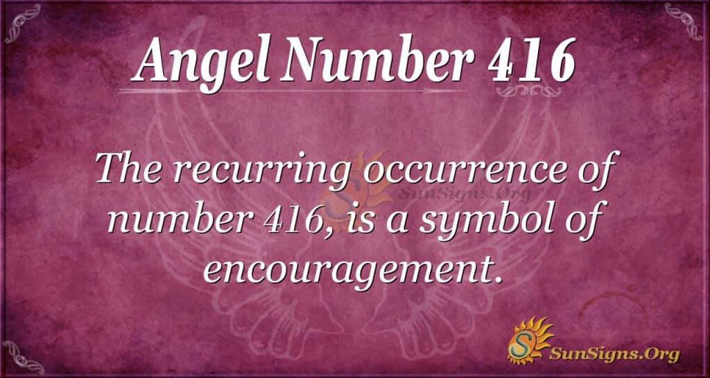 Angel Number 416
