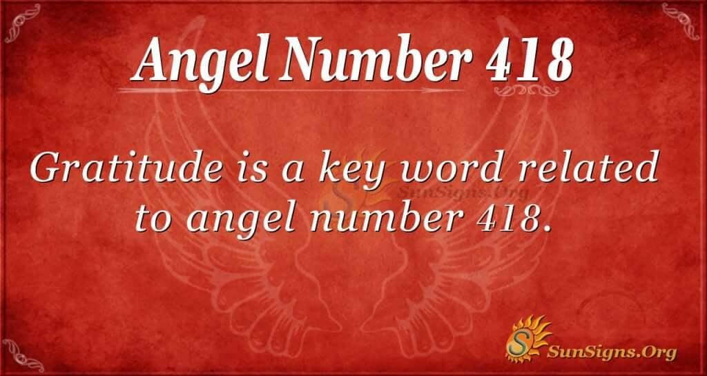 Angel Number 418