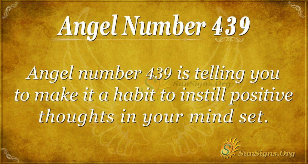 Angel Number 439