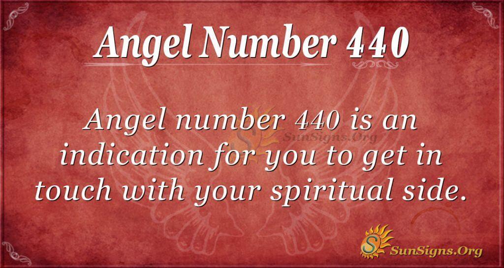 Angel Number 440
