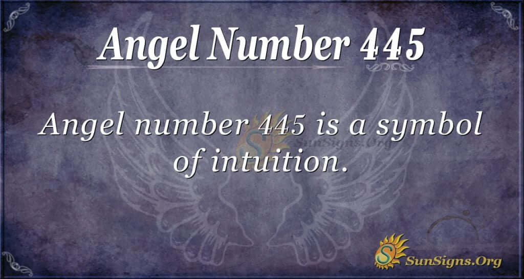 angel number 445