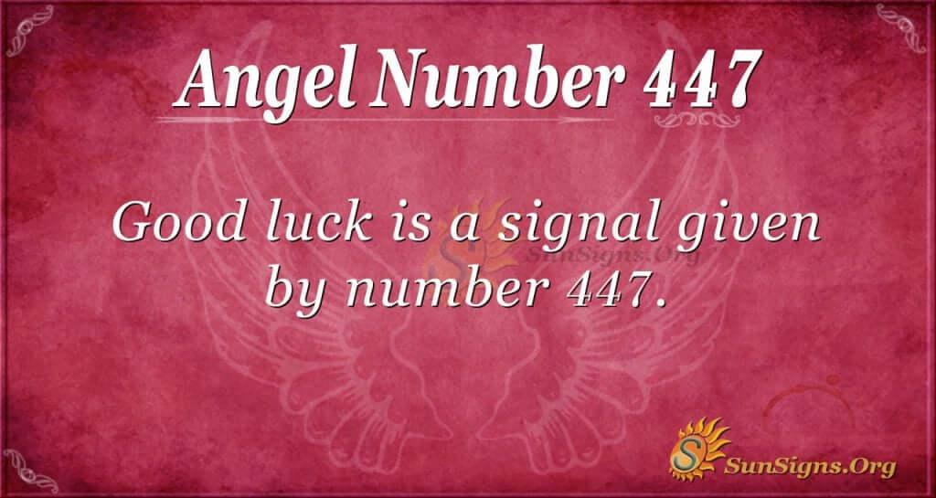 angel number 447