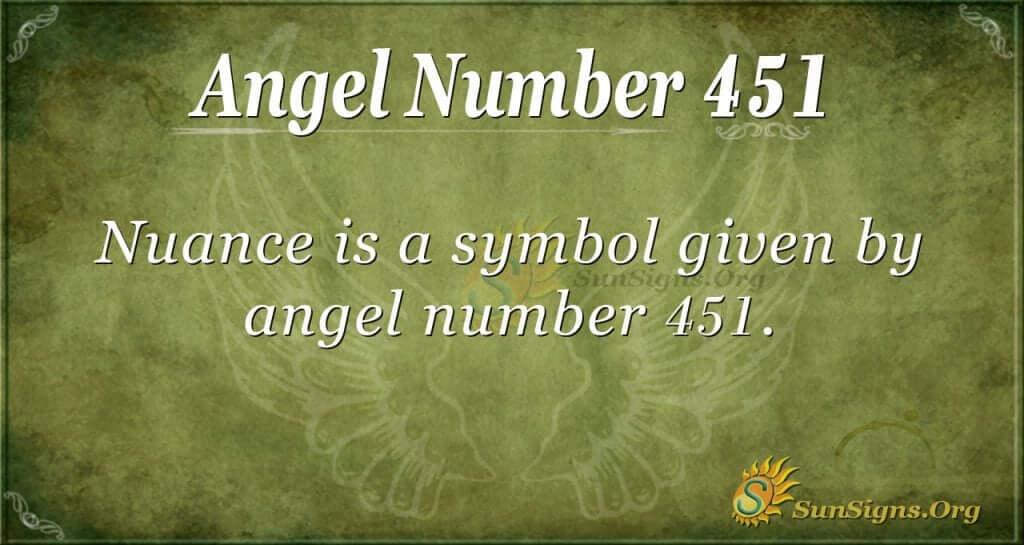 Angel Number 451