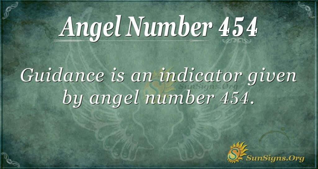 Angel Number 454