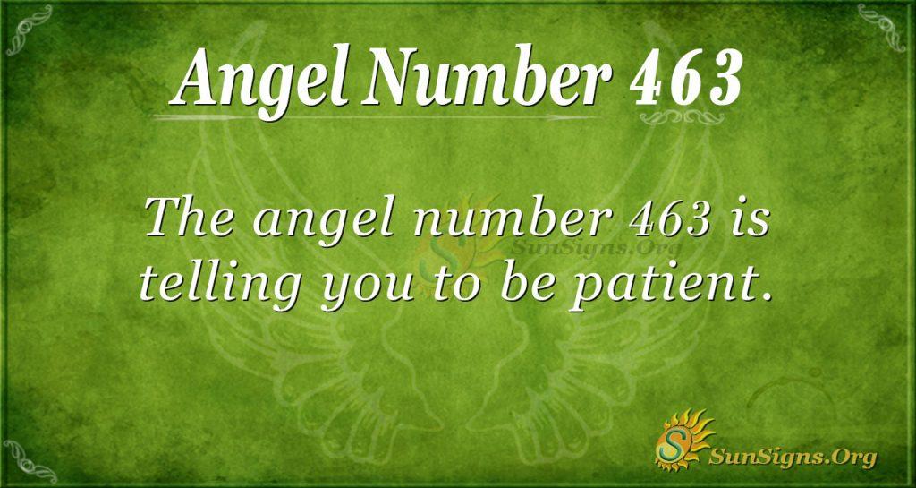 Angel Number 463