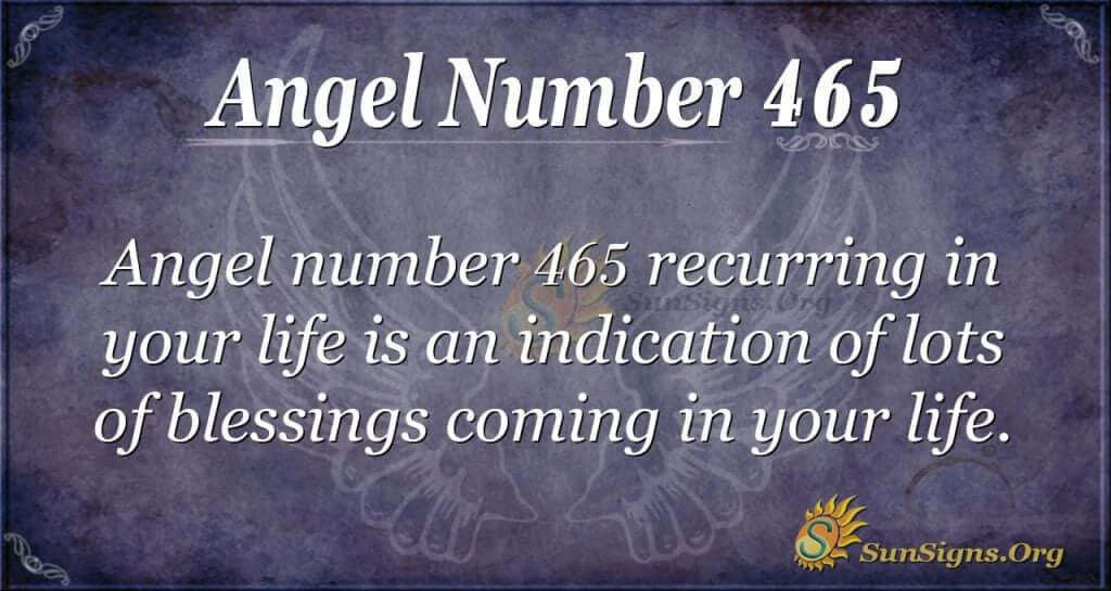 Angel Number 465