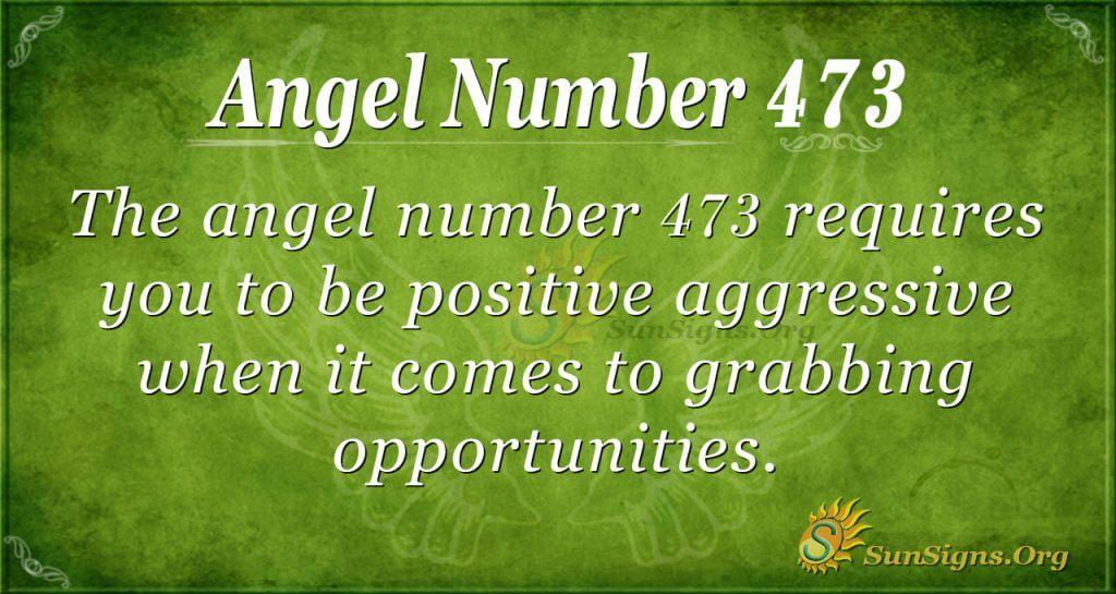 Angel Number 473