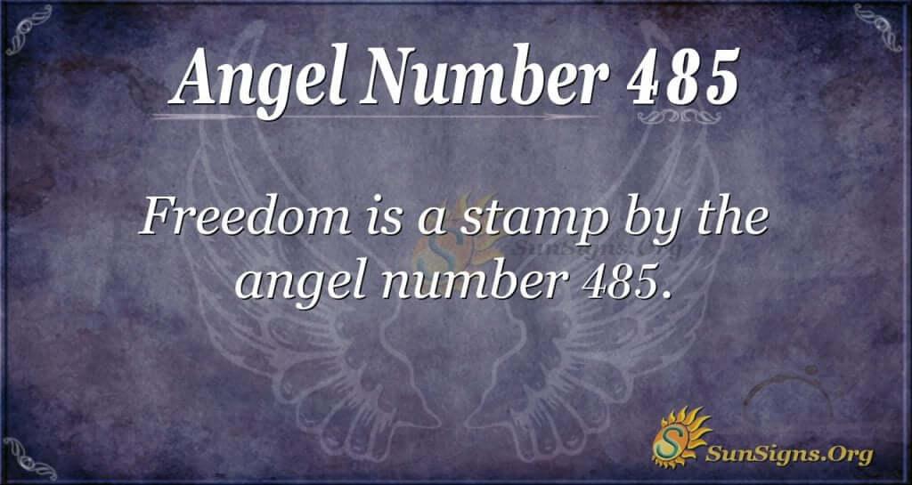 Angel Number 485