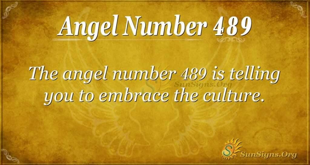 Angel Number 489