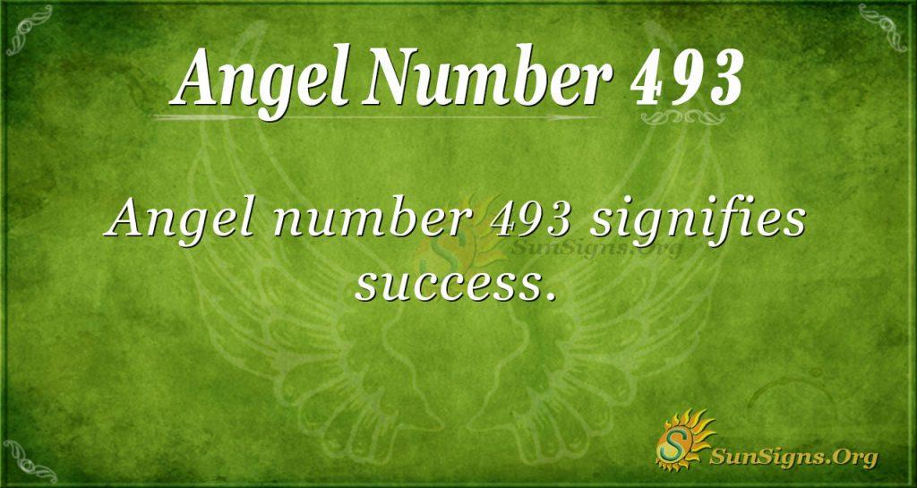 Angel Number 493